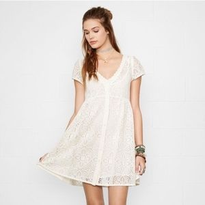 RL Denim & Supply Lace Button Babydoll Boho Dress